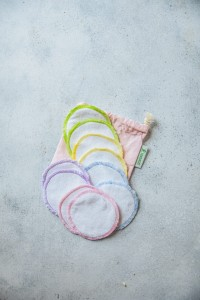Reusable cotton rounds - a set of 10 in a cotton bag